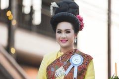 Ståta av kvinnaklänningen Thailand Arkivfoton