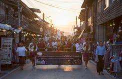 Ståta av Loy Kratong Festival Thailand Royaltyfri Fotografi