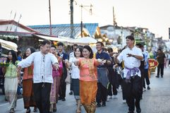 Ståta av Loy Kratong Festival Thailand Royaltyfri Bild