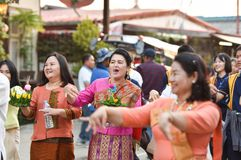 Ståta av Loy Kratong Festival Thailand Royaltyfria Bilder