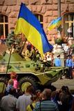 Ståta av militär utrustning Royaltyfri Foto