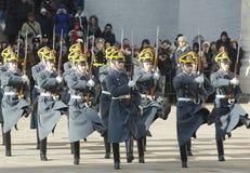 Ståta av presidents- guards som ut marscherar Arkivfoton