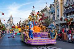 Ståta i Main Street USA på det magiska kungariket, Walt Disney World Arkivbilder
