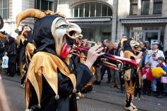 Ståta karnevalet i Basel, Schweitz Arkivfoto