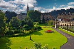 Ståta trädgårdar på badet Förenade kungariket Arkivfoton