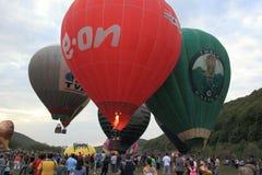 Ståtar ballonger Campu Cetatii för varm luft Arkivbilder