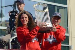 Ståtar Boston Red Sox världsserier 2013 Arkivbilder