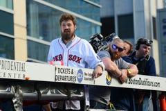 Ståtar Boston Red Sox världsserier 2013 Arkivbild