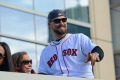 Ståtar Boston Red Sox världsserier 2013 Arkivfoto