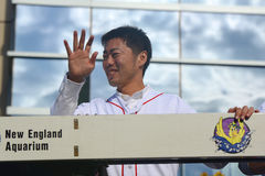Ståtar Boston Red Sox världsserier 2013 Royaltyfri Bild