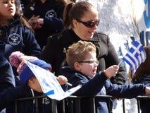 Ståtar den grekiska självständighetsdagen för NYC 2016 del 4 4=5 Fotografering för Bildbyråer