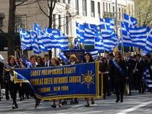 Ståtar den grekiska självständighetsdagen för NYC 2016 del 5 25 Royaltyfri Foto