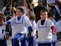 Ståtar den grekiska självständighetsdagen för NYC 2016 del 5 53 Royaltyfri Foto