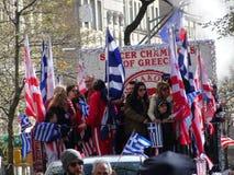 Ståtar den grekiska självständighetsdagen för NYC 2016 del 5 62 Royaltyfria Bilder
