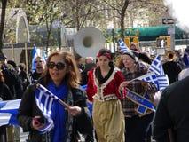 Ståtar den grekiska självständighetsdagen för NYC 2016 del 5 73 Fotografering för Bildbyråer