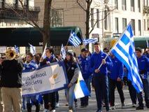 Ståtar den grekiska självständighetsdagen för NYC 2016 del 5 81 Royaltyfri Foto