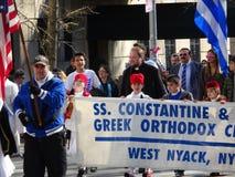 Ståtar den grekiska självständighetsdagen för NYC 2016 del 5 83 Arkivfoton