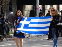 Ståtar den grekiska självständighetsdagen för NYC 2016 del 6 38 Fotografering för Bildbyråer