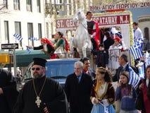 Ståtar den grekiska självständighetsdagen för NYC 2016 del 6 40 Fotografering för Bildbyråer