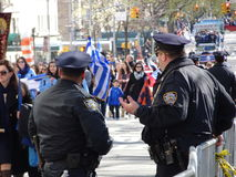Ståtar den grekiska självständighetsdagen för NYC 2016 del 7 4 Royaltyfria Bilder