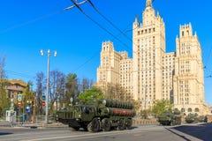 ståtar den långa missilen moscow för luft 300 2008 surface system för områderyss s till segern Royaltyfri Bild