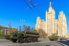 ståtar den långa missilen moscow för luft 300 2008 surface system för områderyss s till segern Arkivfoto