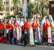 Ståtar den nationella dagen för UAE Royaltyfri Foto