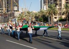 Ståtar den nationella dagen för UAE Royaltyfri Fotografi