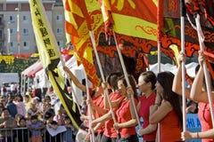 ståtar den nya angeles kinesen 2009 los år Arkivbild