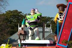 Ståtar det ljusa året för rykte från Toy Story i Tokyo Disneyland arkivfoton