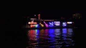 Ståtar det Winterfest fartyget 2017 i Fort Lauderdale Florida stock video