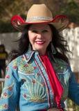 Ståtar Fiestabunken 2012 cowgirlen Royaltyfria Bilder