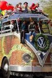 Ståtar Fiestabunken 2012 i storformat bussar Arkivbilder