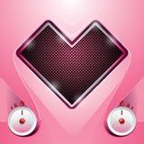 Stéréo dans une forme de coeur illustration de vecteur