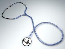 Stéthoscope, auscultation cardiaque d'instrument Photos libres de droits