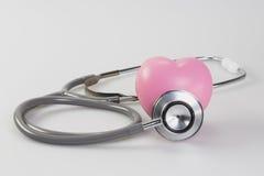 Stéthoscope avec le coeur Image libre de droits