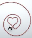 Stéthoscope dans la forme du coeur Image libre de droits