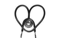 Stéthoscope de coeur de forme Photo stock