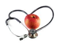 Stéthoscope et Apple Image libre de droits