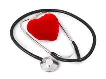 Stéthoscope et coeur Image stock