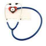 Stéthoscope et coeur Image libre de droits