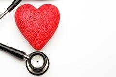 Stéthoscope et coeur Images libres de droits