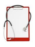 stéthoscope médical de planchette photos libres de droits