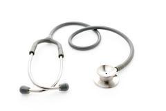 Stéthoscope médical sur le fond blanc image libre de droits