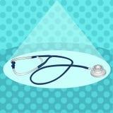 Stéthoscope Objet médical Art de bruit de vecteur illustration de vecteur