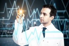 stéthoscope réglé d'argent de médecine de mensonges de concept Photos stock
