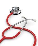 Stéthoscope rouge illustration libre de droits