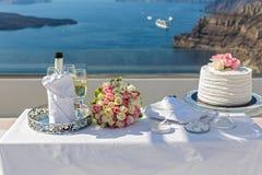 Stół dla ślubnej ceremonii Fotografia Royalty Free