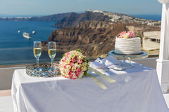 Stół dla ślubnej ceremonii Obrazy Stock