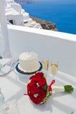 Stół dla ślubnej ceremonii Fotografia Stock
